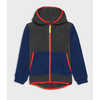 Yeti Hooded Jacket Black Heather/Moonlight Blue