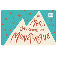 Carte‑cadeau électronique de MEC Remerciement