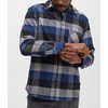 Overland Stretch Shirt Neutral Grey Fireside Plaid