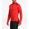 Essential 1/4 Zip Top Fiery Red