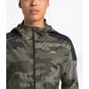 Essential H20 Waterproof Run Jacket New Taupe Green Waxed Camo Print