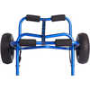 Anodized Aluminum Large Transportation Cart Blue Anodized Aluminum