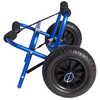 Anodized Aluminum Large Transportation Cart Blue Anodized Aluminum