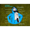 Refuge Waterproof Cycling Jacket Pacific Blue