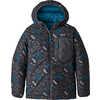 Manteau à capuchon réversible en duvet Bleu balkanique