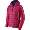Down Sweater Hoody Craft Pink w/Classic Navy