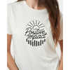Positive Impact Short Sleeve T-shirt Elm White