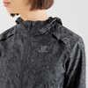 Manteau imprimé à capuchon Agile Wind Ébène