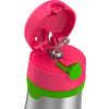 Bouteille avec paille en acier inoxydable 290 ml Rose