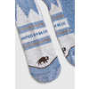 Bison Trail Crew Socks Blue