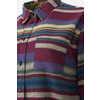 Chemise à manches longues en flanelle Striped Pourpre poussière