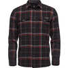 Valley Long Sleeve Flannel Shirt Black/Nickel Plaid