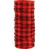 Foulard tubulaire en laine mérinos Carreaux rouge