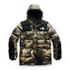 Deptford Down Jacket Burnt Olive Green Waxed Camo Print