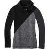 Maillot laine mérinos 250 à glissière asymétrique Tourbillon de neige noir