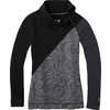 Merino 250 Asym Top Black Snow Swirl