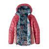 Manteau à capuchon réversible en duvet Rose éventail