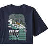 T-shirt Fed Up with Melt Down Responsibili-Tee Marine classique