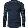 Camo Merino Wool Crew Denim Blue