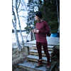 Camo Merino Wool Pants Burgundy