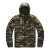 Manteau à capuchon ThermoBall Eco Burnt Olive Green Waxed Camo Print