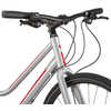 Silhouette Step-Through Bicycle Silver/Red/White