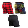 Classic Boxer Briefs (3 Pack) Fireworks/Fireside Plaid Red/Black