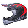Zoka Youth Full Face Bicycle Helmet Eon Matte Black/Red/Grey