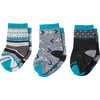 Toddler Trio Socks Black