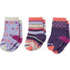 Toddler Trio Socks Meadow Mauve