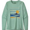 Cap Cool Daily Long Sleeve Graphic Shirt Summit Static: Gypsum Green X-Dye