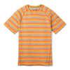 Merino 150 Baselayer Short Sleeve Atomic Orange Stripe