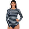 Coastal 2 Long Sleeve Rashguard Block Stripe Navy