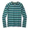 Merino 150 Baselayer Long Sleeve Crew Pacific Stripe