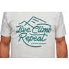 T-shirt Live Climb Repeat Birch Heather