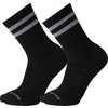 Athletic Light Elite Stripe Crew Socks 2 Pack Black