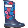 Rain Boots Indigo Multi Pansies
