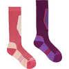 Chaussettes de ski The Brave Jr (paquet de 2) Verre/Pourpre rose