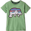 T-shirt en coton biologique Baby Graphic Fitz Roy lamantin : chardon