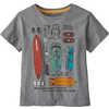Baby Graphic Organic T-Shirt Bandito Kit: Gravel Heather