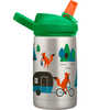 Eddy+ Kids Stainless Steel Bottle 350ml Camping Foxes