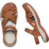 Rose Leather Sandals Tan