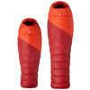 Sac de couchage en duvet Draco Jr -5 °C Rouge foncé/Orange tango
