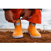 "6"" Salmon Sisters Ankle Rain Boots Yellow/Celestial Sea"