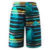 Cancun SunProof Swim Shorts Cyan Blue Fish