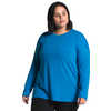 Workout Long Sleeve Plus Clear Lake Blue