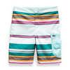 High Class V Water Shorts Fanfare Green Sunset Stripe