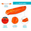 Kayak Wave Jr (avec pagaie) Orange