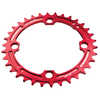 Single Ring 9/10/11/12 Speed Narrowith Wide Red