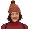 Powder Town Beanie Park Stripe Knit: Spanish Red